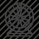 casino, fortune, lottery, roulette, wheel icon