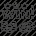 casino, gambling, jackpot, lottery, money, win icon