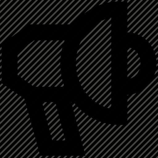 advertising, bullhorn, loud, multimedia icon