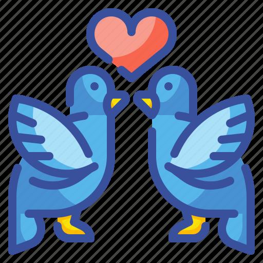 Animals, bird, heart, love, romance, romantic, valentine icon - Download on Iconfinder