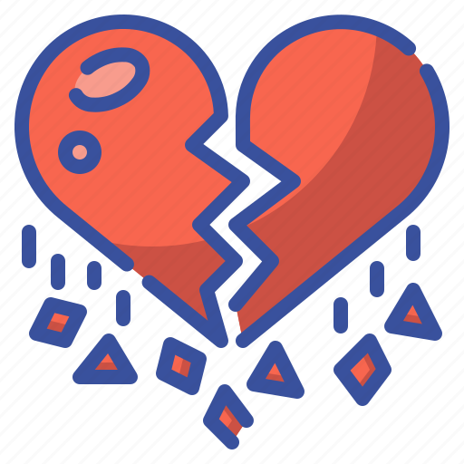 Broken, heart, heartbreak, love, lovelorn, regret, valentine icon - Download on Iconfinder