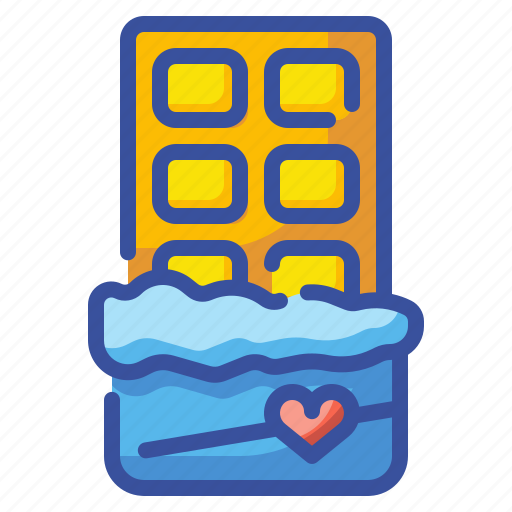 bar, chocolate, dessert, gift, snack, sweet, valentine icon
