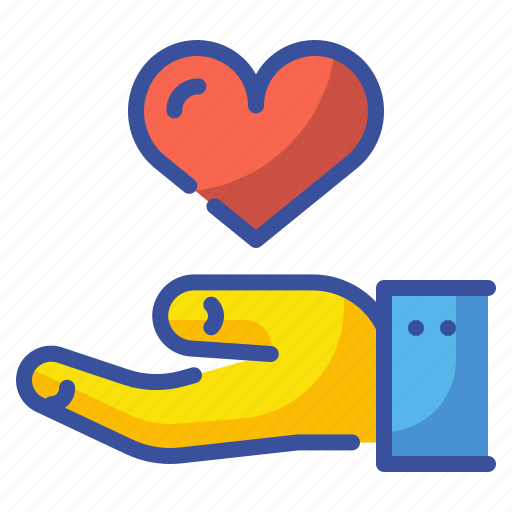 Donation, hand, heart, love, solidarity, sympathy, valentine icon - Download on Iconfinder
