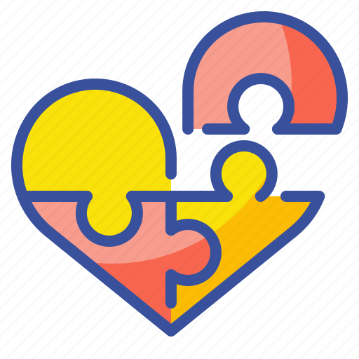 Heart, jigsaw, love, lovely, puzzle, romantic, valentine icon - Download on Iconfinder