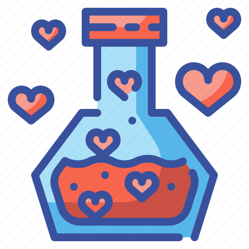 Chemistry, flask, heart, love, potion, romantic, valentines icon - Download on Iconfinder