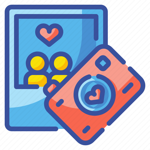 camera, heart, image, love, photograph, picture, valentines icon