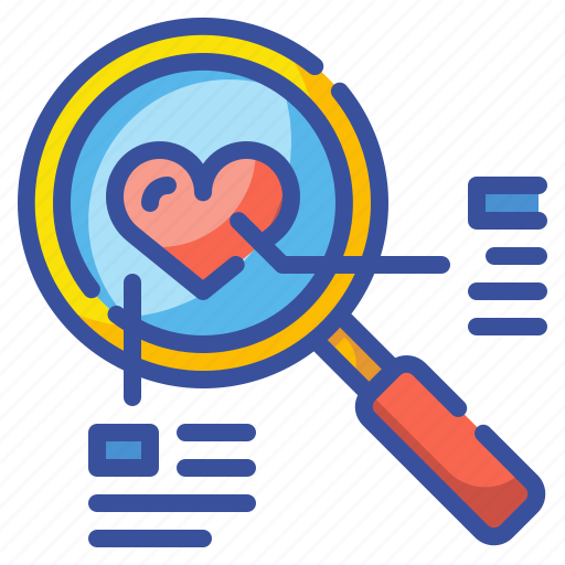 Couple, find, heart, love, search, valentine, zoom icon - Download on Iconfinder