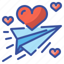 envelope, heart, letter, love, message, send, valentine