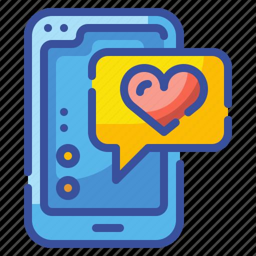 cellphone, communication, iphone, love, mobile, smartphone, valentine icon