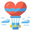 air, balloon, flight, fly, love, urban, valentine