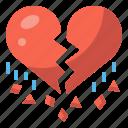 broken, heart, heartbreak, love, lovelorn, regret, valentine icon