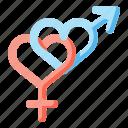 female, gender, love, male, sex, shapes, symbols