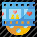 cinema, love, major, movie, romantic, scene, valentine icon