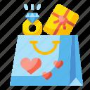 bag, buy, gift, love, shop, shopping, valentine