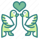 animals, bird, heart, love, romance, romantic, valentine