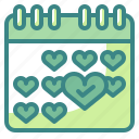 calendar, date, events, list, month, schedule, year icon