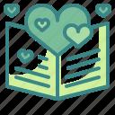 blessing, card, heart, letter, love, valentine, wedding