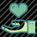 donation, hand, heart, love, solidarity, sympathy, valentine