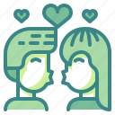 couple, kiss, love, romance, romantic, sweet, valentines icon
