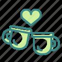 beverge, cup, drink, food, love, mug, tea icon