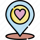 location, love, app, romance, map, pin, navigation icon
