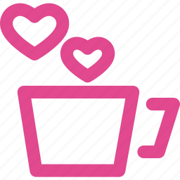 coffee, cup, drink, heart, love, tea icon