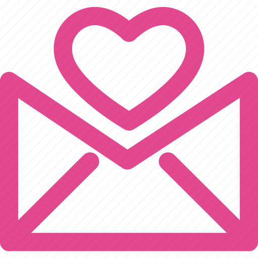 email, heart, letter, love, mail, message icon