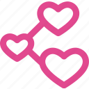 connect, favorite, heart, like, love, valentine icon
