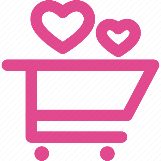 buy, cart, ecommerce, heart, love, shop, shopping icon