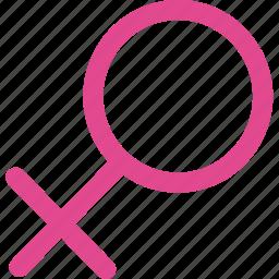 female, gender, girl, heart, love, user, woman icon