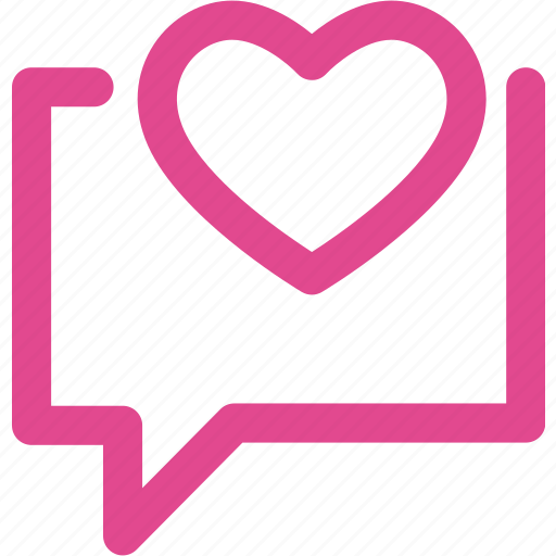 chat, communication, heart, love, mail, message icon