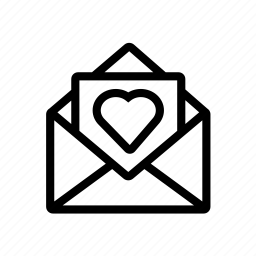 love, lovemail, mail, valentine icon