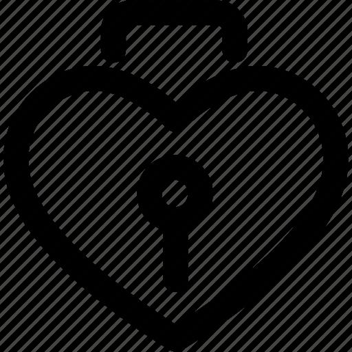 heart, lock, locked, locker, love, valentine icon