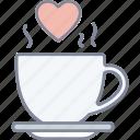 love, tea, cup, coffee