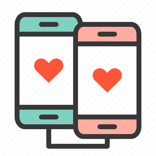 couple, couple phone, dating, love, love phone icon