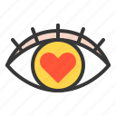 dating, eye, love, love eye, love sign icon