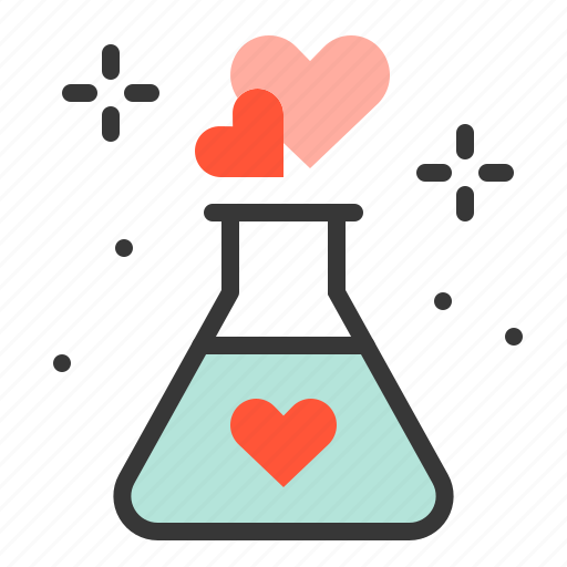 chemical, dating, love, love chemical icon