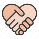 dating, hand, love, shake hand icon