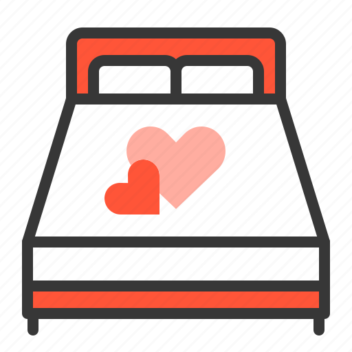 bed, dating, love, love bed icon