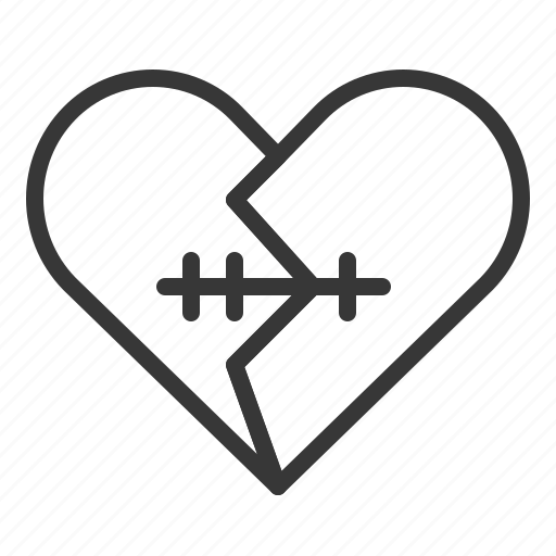 broken, dating, heart, love, recover icon