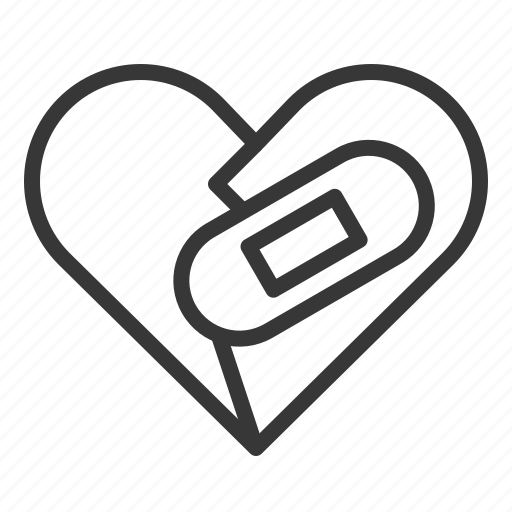 aid, broken, dating, heart, love, recover icon