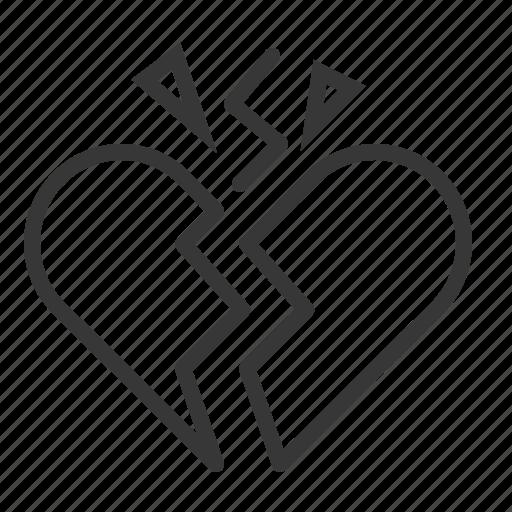 broken heart, dating, heart, hurt, love icon