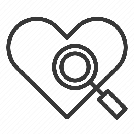 dating, heart, love, search, search love, seek icon