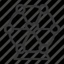 ferris wheel, heart, romance, romantic, valentine icon