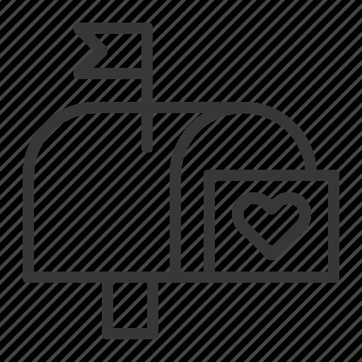 heart, letter, love, love message, mail, valentine icon