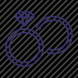 diamond, engagement, marriage, ring, rings, wedding icon