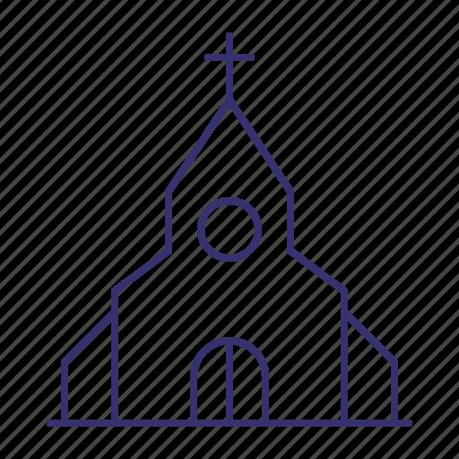 chapel, christian, church, cross, religion, temple icon