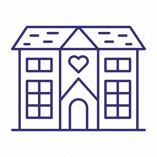 banquet, building, estate, home, house, property, real icon