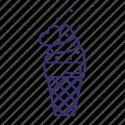 cone, cream, dessert, ice, icecream, sweet icon