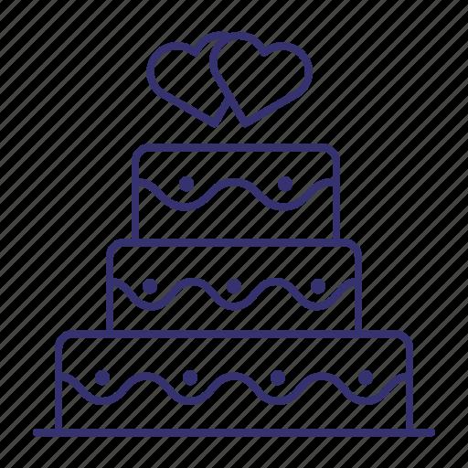 bakery, cake, celebration, dessert, sweet, wedding icon